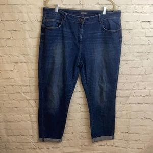 M&S boyfriend jeans with rolled bottoms